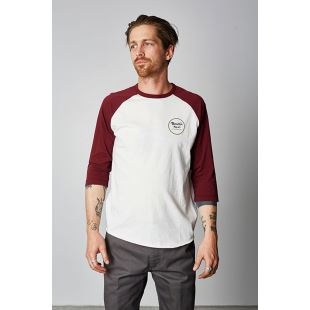 Wheeler 3/4 Off White Maroon