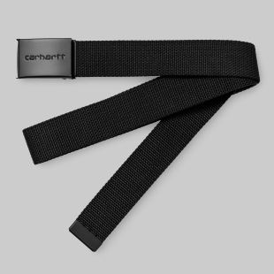 Clip Belt Chrome Black