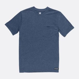 Basic Pocket CR SS Indigo Heather
