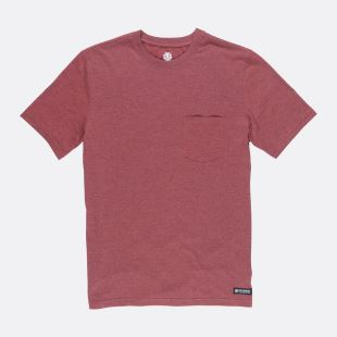 Basic Pocket CR SS Syrah Heather