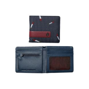 Showdown Bi Fold Zip Wallet Midnight Navy