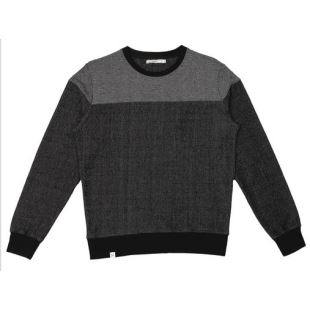 Sweat Antipode Noir Chiné