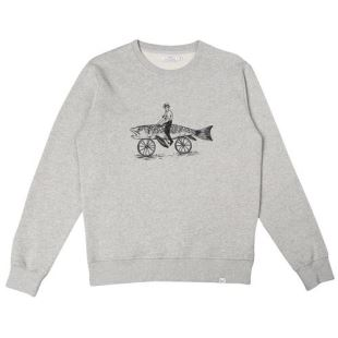 Sweat Fishbike Gris Chiné