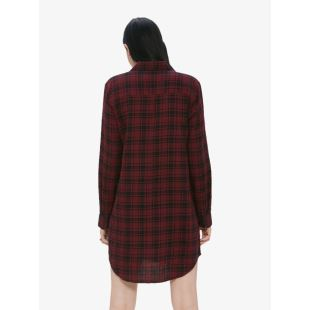 Fairuza Shirt Dress Cranberry Multi