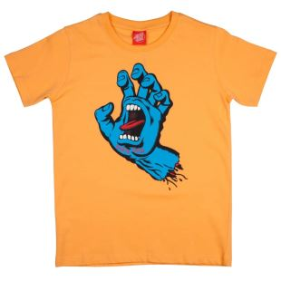 Youth T Shirt Sreaming Hand Light Orange