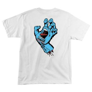 Youth T Shirt Sreaming Hand White
