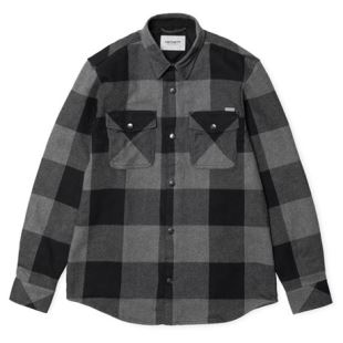 LS Graham Shirt Graham Check Dark Grey Heather
