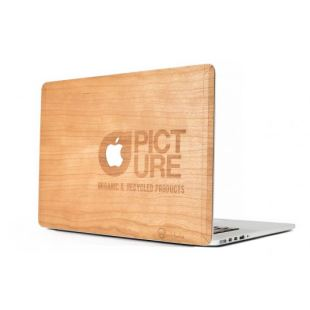 "Cover Bois Picture Macbook Pro 3 15"" Cerisier"