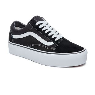 Old Skool Platform Black White