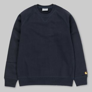 Chase Sweat Dark Navy Gold
