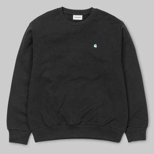 Madison Sweat Black Soft Teal
