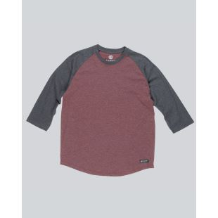 Basic Raglan QTR Oxblood Heather