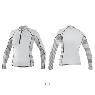 Wms Front-Zip L/S Rash Guard