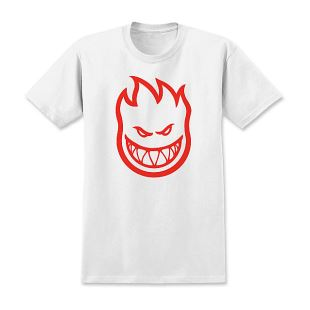 Spitfire T Shirt Kid Bighead Wht Red