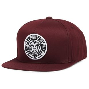 Classic Patch Snapback Burgundy