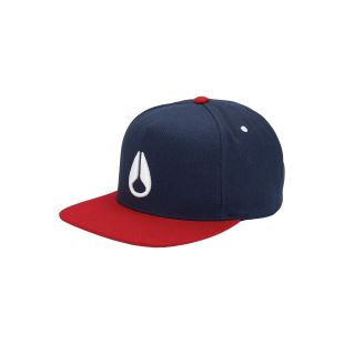 Simon Snapback Hat Navy Red