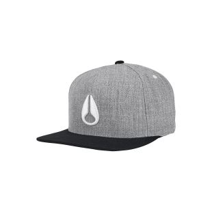 Simon Snapback Hat Heather Gray Blk