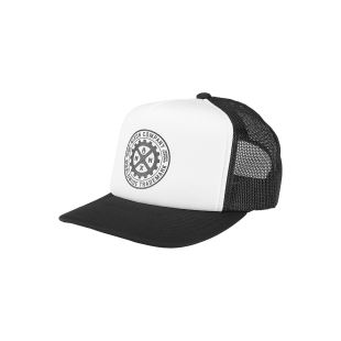 Low Trucker Hat Black White