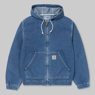 Active Jacket Blue Stone Washed