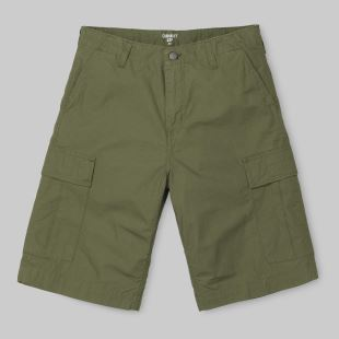 Regular Cargo Short Rover Green Rinsed