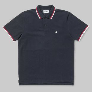 SS Venice Polo Dark Navy White Goji