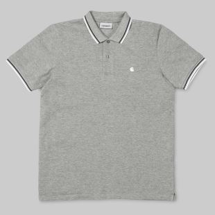 SS Venice Polo Grey Heather White Navy