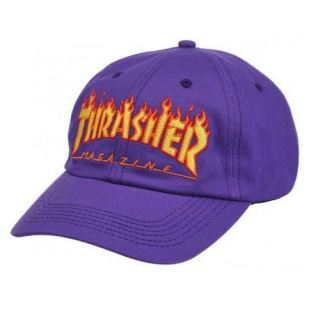 Thrasher Cap Flame Old Timer Purple dbafe8b12bd2