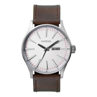 Sentry Leather Silver / Brown