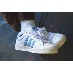 Superstar Vulc X Krooked White Blue Sky