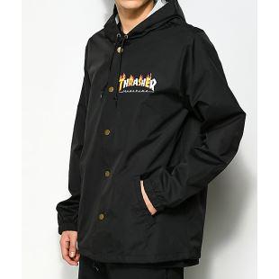 Thrasher Jacket Flame Mag Coach Black 22f7307e444f