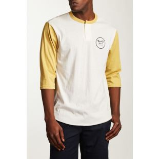 Wheeler 3/4 Slv Henley Off White Modela