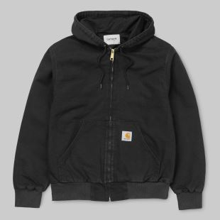 Active Jacket Black Rinsed