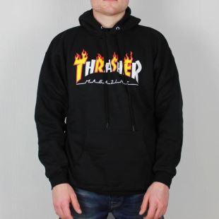 Thrasher Sweat Flame Mag Hood Black 3ff5a0b31748