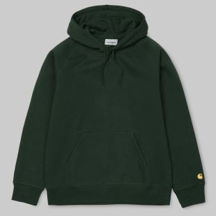 Hooded Chase Sweat Loden Gold