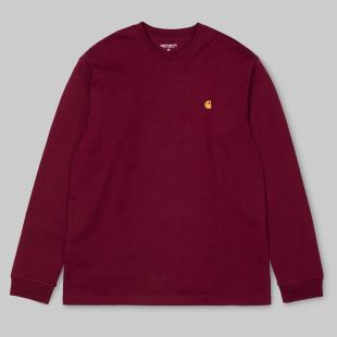 LS Chase Tshirt Mulberry Gold