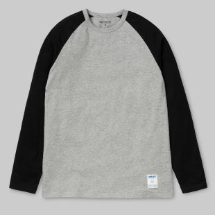 LS Dodgers T-shirt Grey Heather Black