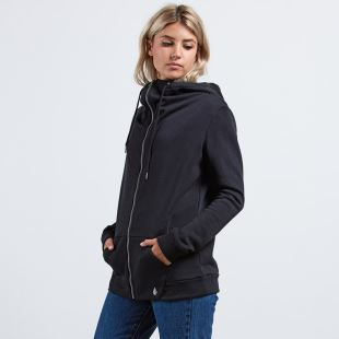 Walk On By Zip Fleece BLK