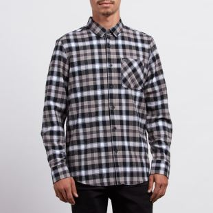 Caden Plaid LS BLK