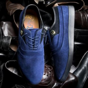 Greco Blue Suede Black