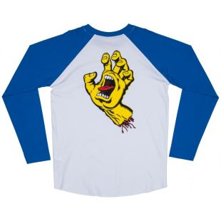 CS Top Screaming Hand Baseball Royal White