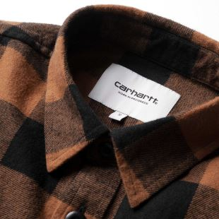 L/S Francine Shirt Francis Check Hamilton Brown