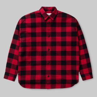 L/S Francine Shirt Francis Check Blast Red