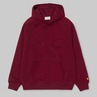 W Hooded Chase Sweat Mulberry Gold