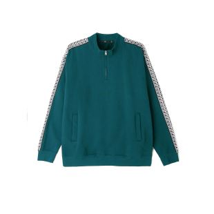 Bridges Mock Neck Zip Dark Teal