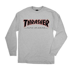 Thrasher x Indy TTG LS Athletic Grey