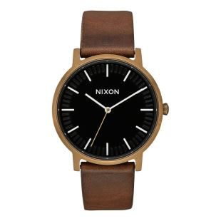 Porter Leather Brass Black Brown