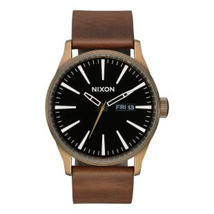 Sentry Leather Brass Black Brown