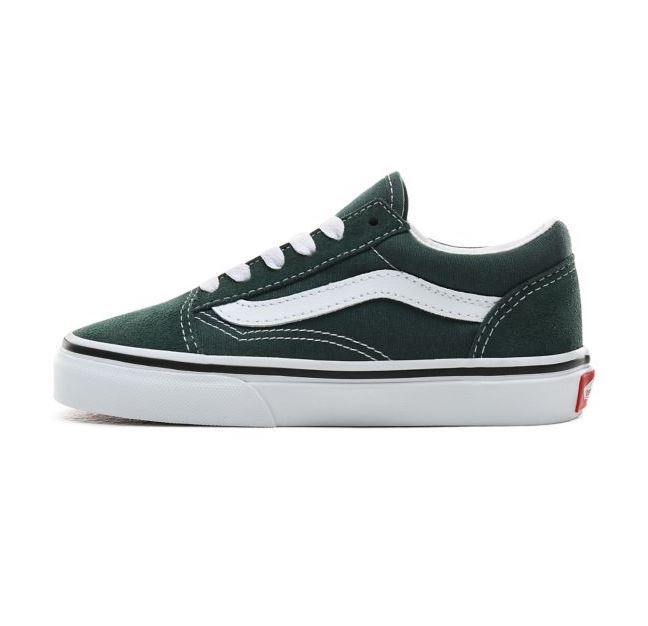uy old skool trekking green true white vans kids kids