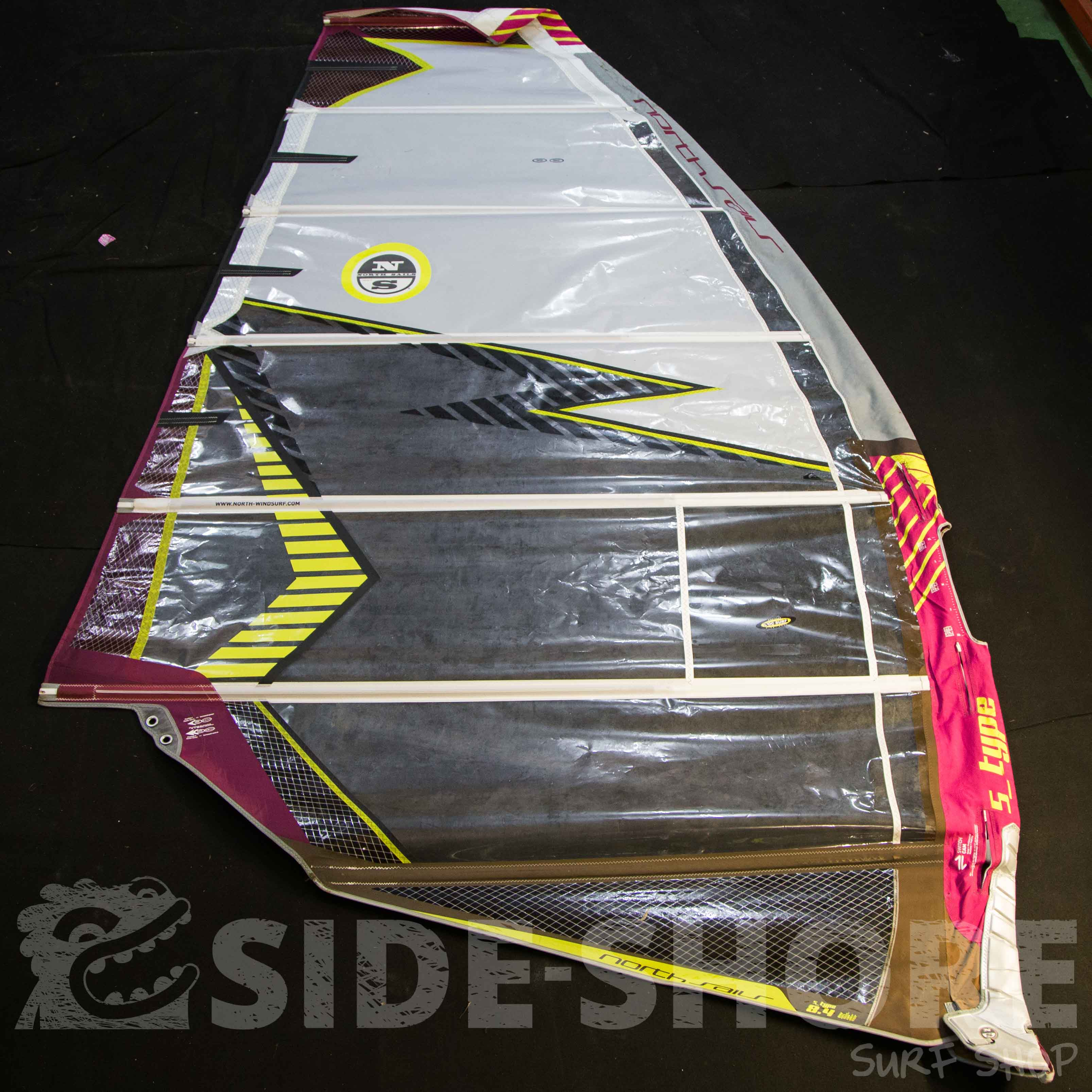 S Type 8 4 M North Sails Windsurf Voiles D Occasion Side Shore