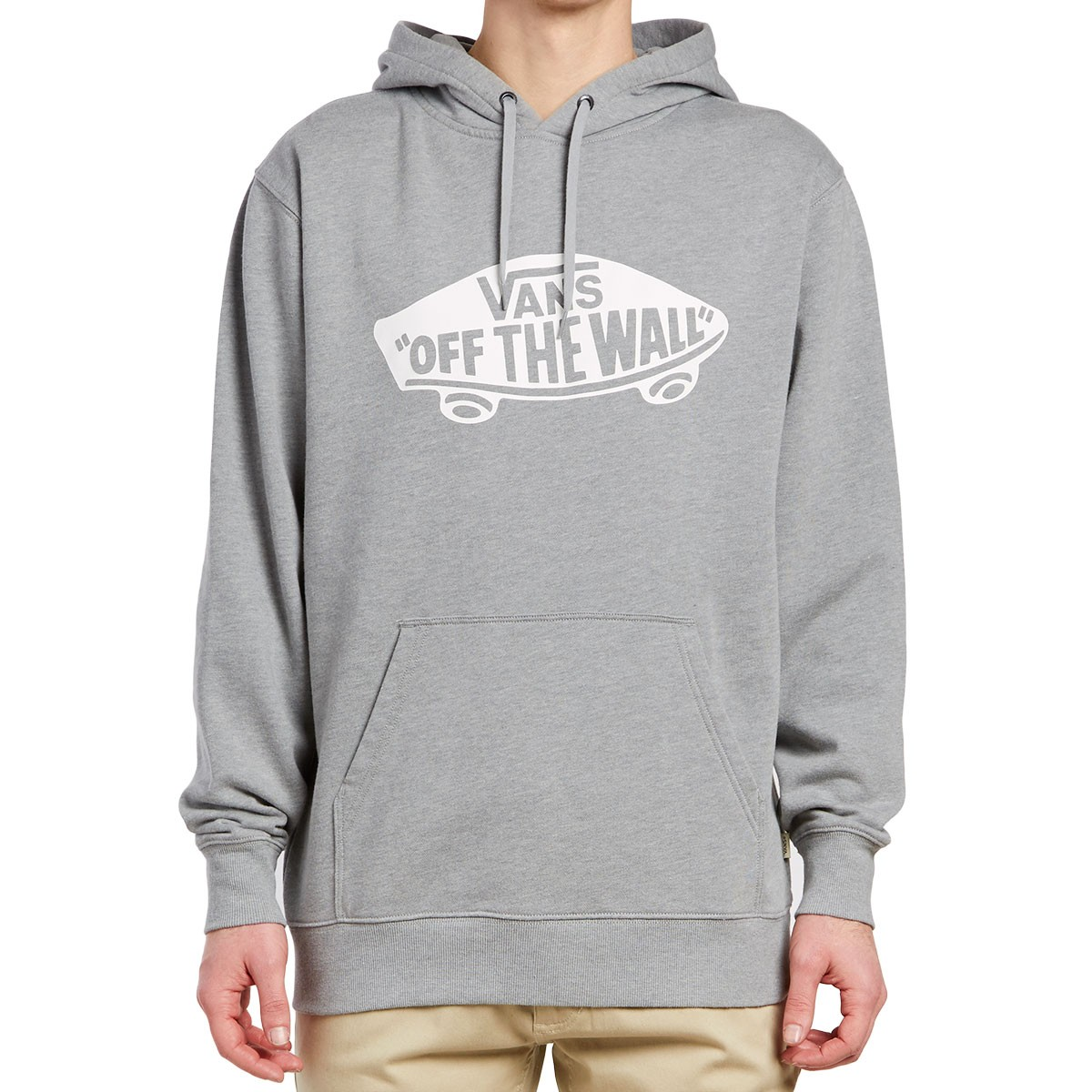 Vans Pullover Men Sweats Heather Fleece White Capuche Concrete Otw C6Xwqw